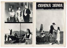 "PROGRAMS FILM ""RED SAILS"" RUSSIAN FILM ACTRESS ANASTASIJA VETRINSKAJA DISTRIBUTED BY MACEDONIA FILM SIZE 24X17 CM - Programs"