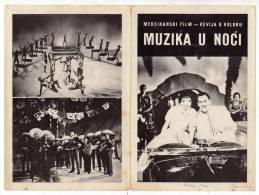 "PROGRAMS FILM ""MUSIC IN THE NIGHT"" MEXICO FILM ACTRESS KARMEN AMAJA DISTRIBUTED BY MACEDONIA FILM SIZE 24X17 CM - Programs"
