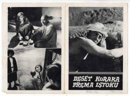 "PROGRAMS FILM ""TEN STEPS TO THE EAST"" SSSR FILM ACTOR ARTIK DZALIJEV DISTRIBUTED BY KINEMA SARAJEVO SIZE 24X17 CM - Programs"