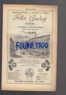 PUB 1907 Manufacture De Gants De Peau Félix Gaday Grenoble & Manufacture De Gants Vallier ( Rondet ) Grenoble - Reclame