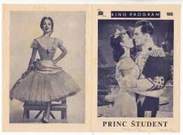 "PROGRAMS FILM ""THE STUDENT PRINCE"" AMERICAN FILM ACTRESS ANN BLYTH DISTRIBUTED BY VESNA FILM SIZE 24X17 CM - Programs"