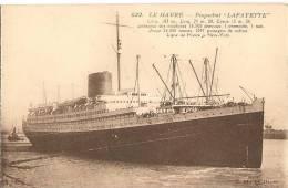 CPA-1920-PAQUEBOT-TRANSAT LANTIQUE-LAFAYETTE-LIGNE  LEHAVRE-NEW YORK-CGT-TBE - Paquebots