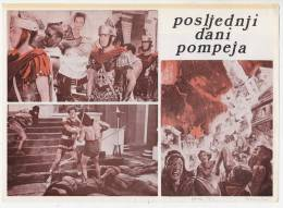 """PROGRAMS FILM """"THE LAST DAYS OF POMPEY"""" ITALY FILM ACTOR STEVE REEVES DISTRIBUTED BY CROATIA FILM SIZE 24X17 CM - Programs"""