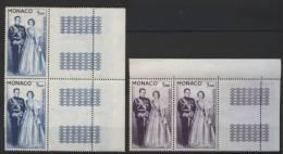 MONACO POSTE  AERIENNE  74  Et  76  **   (  2  SCANS R° V° )  . PAIRES  BORD  DE  FEUILLE  . - Monaco