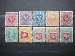 Lithuania 1919 Set Of 10 MH # Mi.40/9 - Lithuania