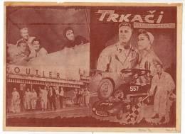 "PROGRAMS FILM ""THE RACERS"" AMERICAN FILM ACTOR KIRK DOUGLAS DISTRIBUTED BY ZETA FILM SIZE 24X17 CM - Programs"