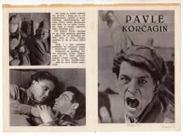 """PROGRAMS FILM """"PAVLE KORCAGIN"""" SOVIET FILM ACTOR VASILIJ LANOVOJ DISTRIBUTED BY MACEDONIA FILM SIZE 24X17 CM - Programs"""