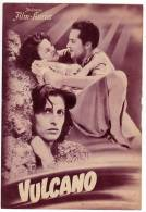 """PROGRAMS FILM """"VULCANO"""" ITALY FILM ACTRESS ANNA MAGNANI DISTRIBUTED BY FILM KURIER SIZE 24X17 CM - Programs"""