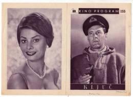 "PROGRAMS FILM ""THE KEY"" ENGLISH FILM ACTRESS SOPHIA LOREN DISTRIBUTED BY CINEMASCOPE SIZE 24X17 CM - Programs"