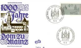 FDC BONN 15 MAI 1975. 1000 JAHRE DOM ZU MAINZ - [7] West-Duitsland