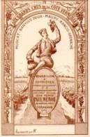 CARTE VIN -AUX GRANDS CRUS DE LA COTE VERMEILLE.PAUL MEROU-BANYULS - Autres Collections