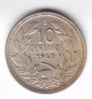 @Y@   Chili  10 Cetavos  1940    (C194) - Chili