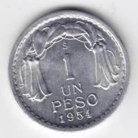 @Y@   Chili  1 Peso 1954 UNC    (C195) - Chile