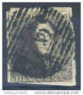 [D189] N° 1 Epaulette Oblitéré, Pli Horizontal - 1849 Mostrine