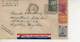 CORREOS DE GUATEMALA  AÑO 1947  VIA PAN AMERICAN WORLD AIRWAYS  CARTA CIRCULADA    OHL - Guatemala
