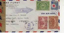 REPUBLICA DE HONDURAS AÑO 1944 CARTA CIRCULADA   EXAMiNED BY   ABIERTA POR LA CENSURA    OHL - Honduras