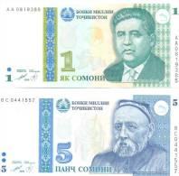 1999. Tajikistan, Set Of 2v,  UNC - Tajikistan