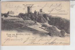 5530 GEROLSTEIN, Die Casselburg, Gruss Aus Gerolstein, Hotel Zur Post 1903 - Gerolstein