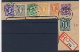Bizone AM Post Nr. 10 - 15 + 32 gestempelt used Briefausschnitt