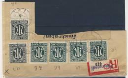 Bizone AM Post 6x Nr. 32 gestempelt used Briefausschnitt / verschiedene Farben