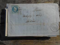 B20.lettre   De Condom ,varieté, Voir Tampon Et Cachet;;verso A Voir!! ! - 1863-1870 Napoléon III. Laure