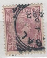 Fra377 Nederlands Indie, Indie Olandesi, 1891, N.27 Y&T, Prinses, Principessa Wilhelmina 25 Cents - Niederländisch-Indien