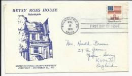 ETATS UNIS , USA , Enveloppe Premier Jour , Drapeau & Monument , 15.11.1975 , N° YT 1076 A - First Day Covers (FDCs)