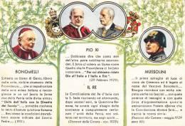 BONOMELLI- PIO X - IL RE - MUSSOLINI   - BELLA FOTO D´EPOCA ORIGINALE 100% - Geschiedenis