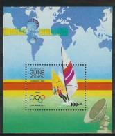 Mua845 SPORT OLYMPISCHE SPELEN SURFEN OLYMPIC GAMES LOS ANGELES WIND SURFING POSTZEGELS STAMPS GUINÉ-BISSAU 1984 PF/MNH - Zomer 1984: Los Angeles