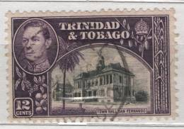 Fra383 Trinidad And Tobago, N. 144, Re King Roi Giorgio VI, George VI, Hotel De Ville, Municipio Di San Francesco - Trindad & Tobago (1962-...)