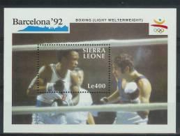 Mua858 SPORT OLYMPISCHE SPELEN BOXEN OLYMPIC GAMES BARCELONA BOXING SIERRA LEONE 1990 PF/MNH - Zomer 1992: Barcelona