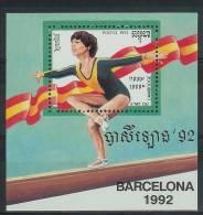 Mua865 SPORT OLYMPISCHE SPELEN EVENWICHTSBALK OLYMPIC GAMES BARCELONA SCHWEBEBALKEN CAMBODGE 1992 PF/MNH - Summer 1992: Barcelona