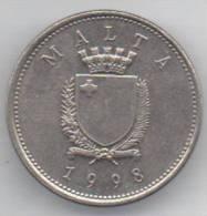 MALTA 10 CENTS 1998 - Malta