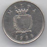 MALTA 2 CENTS  1998 - Malta