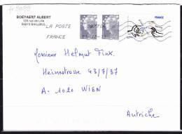 01.12.2011   -  Bedarfsbeleg, Gelaufen Von Bailleul Nach Wien / Autriche  -  Siehe Scan  (fr 9099) - Frankrijk