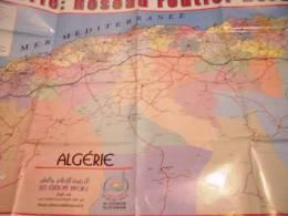 CARTE GEOGRAPHIE DE L'ALGERIE: RESEAU ROUTIER NORD- CARTE ORIGINALE-2011 - Geographical Maps