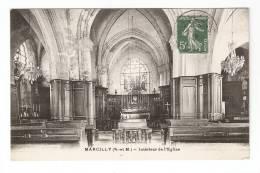 CPA : 27 - Eure : Marcilly : Intérieur De L'Eglise - Marcilly-sur-Eure
