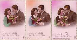 Lot De 5 Cartes - Je Veux Te Retrouver... - PC Paris N° 5241/1 à 5241/5 -  4 Scans - - Couples