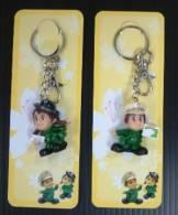 Taiwan 2010 Postman & Post Woman Key Chain/Ring - Key-rings