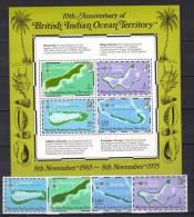ENR20B - B.I.O.T. , Serie N. 82/85 + BF N. 2  ***  MNH - Territorio Britannico Dell'Oceano Indiano