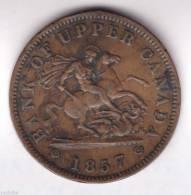 @Y@        Bank Of Upper Canada 1 Penny 1857   (2090) - Canada