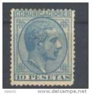 ES199-L3235.Spain.Espagne .ALFONSO   Xll . 1878 .(Ed 199* ) Con Charnela.Marquillado. .MUY BONITO - Nuevos