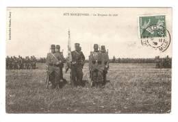 CPA : 54 -  Nancy  ( ? ) : Aux Manoeuvres : Le Drapeau Du 160 è ( Soldats Présentant Le Drapeau + Bataillon - Manovre