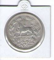 IRAN , 5000 DINAR  /  5 QIRAN  - MUZAFFAR AL - DIN SHAH , 1902 (AH 1320) , SILVER COIN - Iran