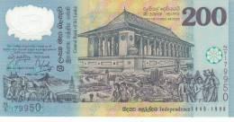 SRI LANKA  200 Rupees  Commemorative  1998 ***UNC*** P-114b - Sri Lanka