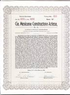 O) 1949 MEXICO, STOCKS TWENTY, Nº213, CIA MEXICANA CONSTRUCTORA AZTECA. - Other