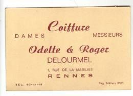 COIFFURE DELOURMEL - RENNES - Cartes De Visite