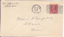USA Commercial Airmail Cover, Postal Markings, Postal History, (8843) - Etats-Unis