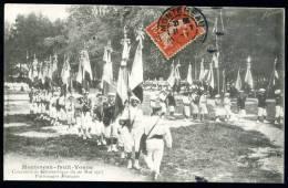 """CPA. MONTEREAU-Fault -YONNE. Concours De Gymnastique Du 20 Mai 1907. Patronage Français. """"Drapeaux"""" - Montereau"""