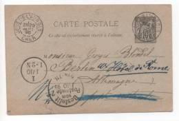 Lot 829: CP De Jouet-S-L'Aubois Pour L'Allemagne Du 29.08.1895 - Standard- Und TSC-AK (vor 1995)
